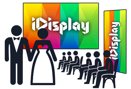 Wedding Large LED Video Wall Screen Display Rental